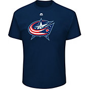 Majestic Men's Columbus Blue Jackets Big Logo Navy T-Shirt