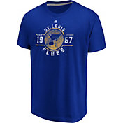 Majestic Men's St. Louis Blues Drop The Pass Blue T-Shirt