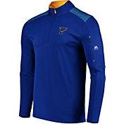 Majestic Men's St. Louis Blues Ultra Royal Quarter-Zip Pullover