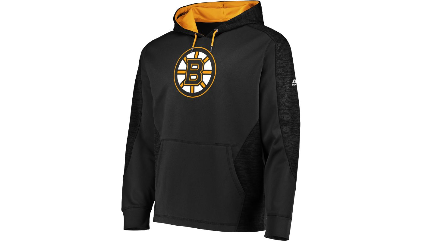 Majestic Men's Boston Bruins Armor Black Hoodie