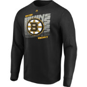 Majestic Men's Boston Bruins Penalty Shot Black Long Sleeve Shirt