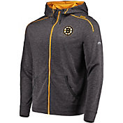 Majestic Men's Boston Bruins Elite Grey Full-Zip Hoodie