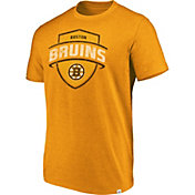 Majestic Men's Boston Bruins Flex Classic Yellow Heathered T-Shirt