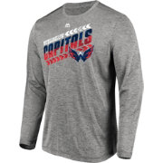 Majestic Men's Washington Capitals Centre Heather Grey Long Sleeve Shirt
