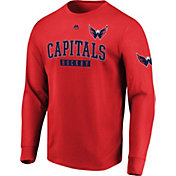 Majestic Men's Washington Capitals Keep Score Red Long Sleeve Shirt