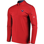 Majestic Men's Washington Capitals Ultra Red Quarter-Zip Pullover
