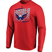 Majestic Men's Washington Capitals Penalty Shot Red Long Sleeve Shirt