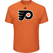 Majestic Men's Philadelphia Flyers Big Logo Orange T-Shirt
