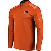Majestic Men's Philadelphia Flyers Ultra Orange Quarter-Zip Pullover