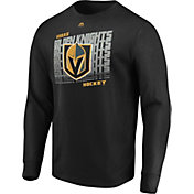 Majestic Men's Vegas Golden Knights Penalty Shot Black Long Sleeve Shirt