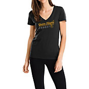 Majestic Women's Vegas Golden Knights Goal Cage Black V-Neck T-Shirt