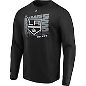 Majestic Men's Los Angeles Kings Penalty Shot Black Long Sleeve Shirt