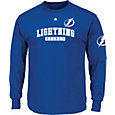 Majestic Men's Tampa Bay Lightning Keep Score Blue Long Sleeve Shirt