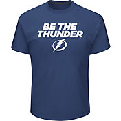 Majestic Men's Tampa Bay Lightning Be The Thunder Blue T-Shirt