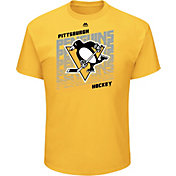 Majestic Men's Pittsburgh Penguins Penalty Shot Gold T-Shirt