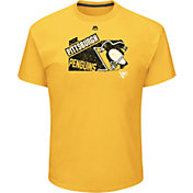 Majestic Men's Pittsburgh Penguins Appeal Play Gold T-Shirt
