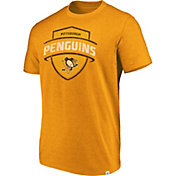 Majestic Men's Pittsburgh Penguins Flex Classic Gold Heathered T-Shirt