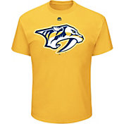 Majestic Men's Nashville Predators Big Logo Gold T-Shirt