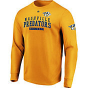 Majestic Men's Nashville Predators Keep Score Gold Long Sleeve Shirt