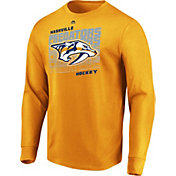 Majestic Men's Nashville Predators Penalty Shot Gold Long Sleeve Shirt
