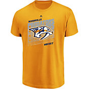 Majestic Men's Nashville Predators Penalty Shot Gold T-Shirt