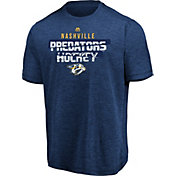 Majestic Men's Nashville Predators Off The Post Navy Heathered T-Shirt
