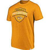 Majestic Men's Nashville Predators Flex Classic Gold Heathered T-Shirt