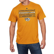 Majestic Men's Nashville Predators Forecheck Gold T-Shirt
