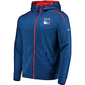Majestic Men's New York Rangers Elite Blue Full-Zip Hoodie