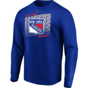 Majestic Men's New York Rangers Penalty Shot Blue Long Sleeve Shirt
