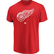 Majestic Men's Detroit Red Wings Big Logo REd T-Shirt