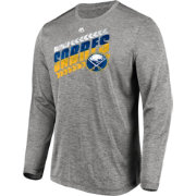 Majestic Men's Buffalo Sabres Centre Performance Heather Grey Long Sleeve Shirt