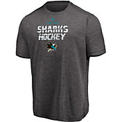 Majestic Men's San Jose Sharks Off The Post Grey T-Shirt