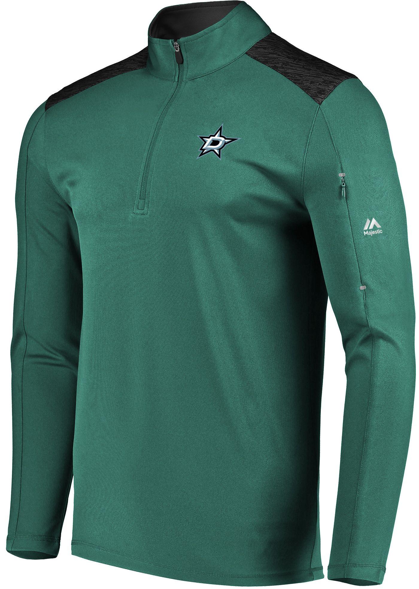 Majestic Men's Dallas Stars Ultra Green Quarter-Zip Pullover