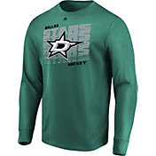 Majestic Men's Dallas Stars Penalty Shot Green Long Sleeve Shirt