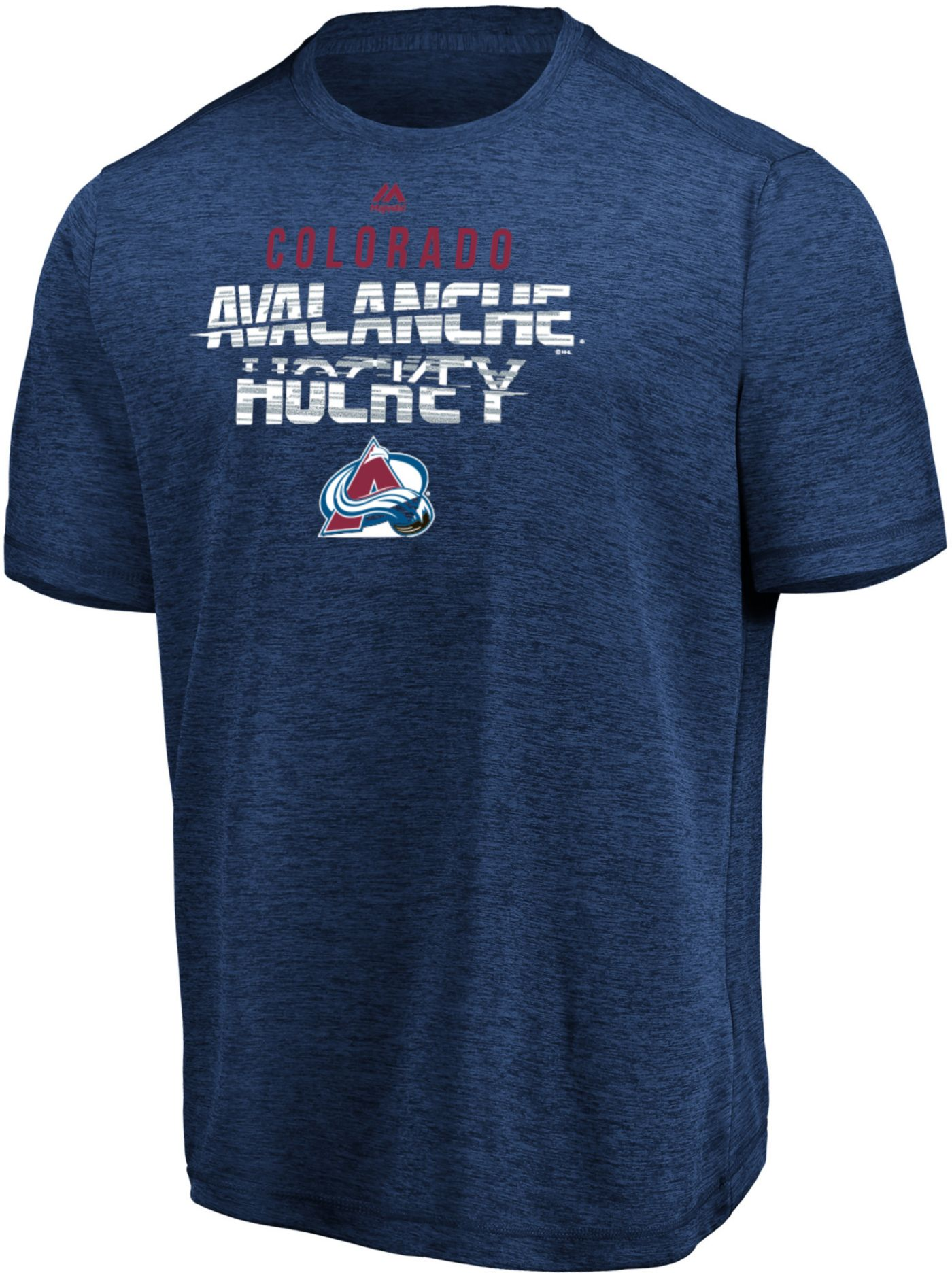 Majestic Men's Colorado Avalanche Off The Post Navy T-Shirt
