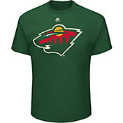 Majestic Men's Minnesota Wild Big Logo Green T-Shirt