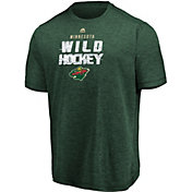 Majestic Men's Minnesota Wild Off The Post Green T-Shirt