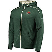 Majestic Men's Minnesota Wild Elite Green Full-Zip Hoodie