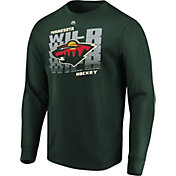 Majestic Men's Minnesota Wild Penalty Shot Green Long Sleeve Shirt