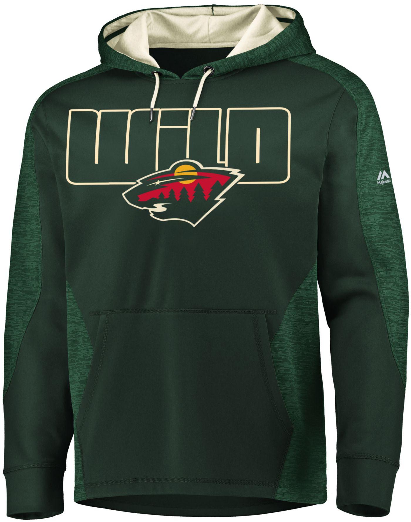 Majestic Men's Minnesota Wild Armor Green Hoodie