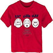 """Majestic Toddler St. Louis Cardinals """"Eat Sleep Play"""" T-Shirt"""