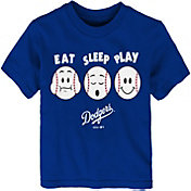 "Majestic Toddler Los Angeles Dodgers ""Eat Sleep Play"" T-Shirt"