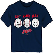 "Majestic Toddler Cleveland Indians ""Eat Sleep Play"" T-Shirt"