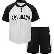 Majestic Toddler Colorado Rockies Good Hit Shorts & Top Set