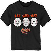 "Majestic Toddler Baltimore Orioles ""Eat Sleep Play"" T-Shirt"