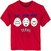 "Majestic Toddler Texas Rangers ""Eat Sleep Play"" T-Shirt"