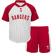 Majestic Toddler Texas Rangers Good Hit Shorts & Top Set