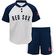 Majestic Toddler Boston Red Sox Good Hit Shorts & Top Set