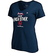 Majestic Women's Atlanta Braves 2018 MLB Postseason Navy V-Neck T-Shirt